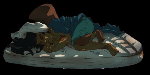 andre sleeping